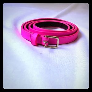 J.Crew hot pink leather belt